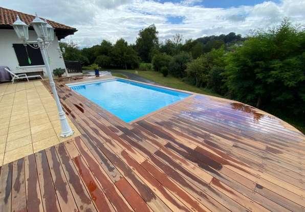 Rénovation et transformation d'une piscine en bois